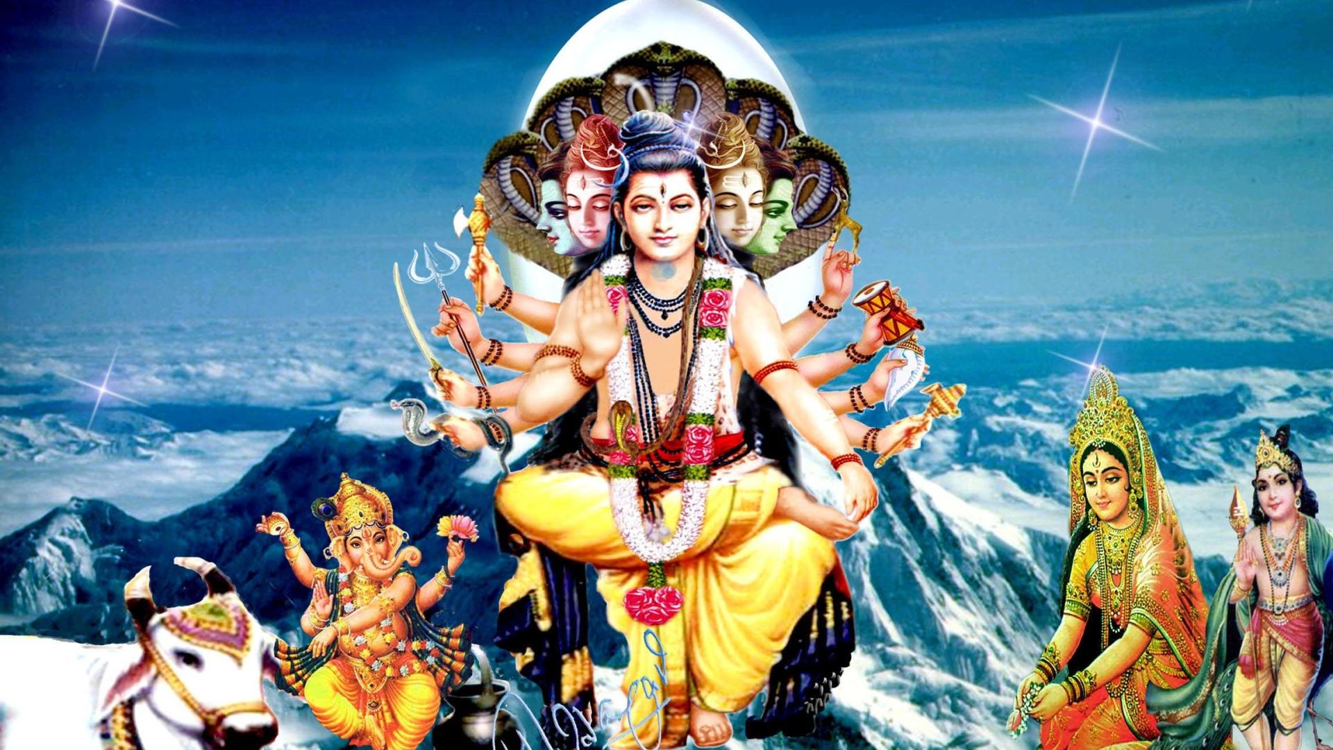 1366x768 Lord Shiva Desktop Background: Lord Shiva Desktop Wallpapers 1920x1080