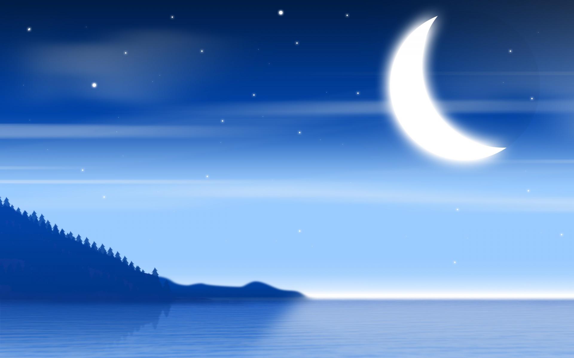 Ночное небо рисунок для детей