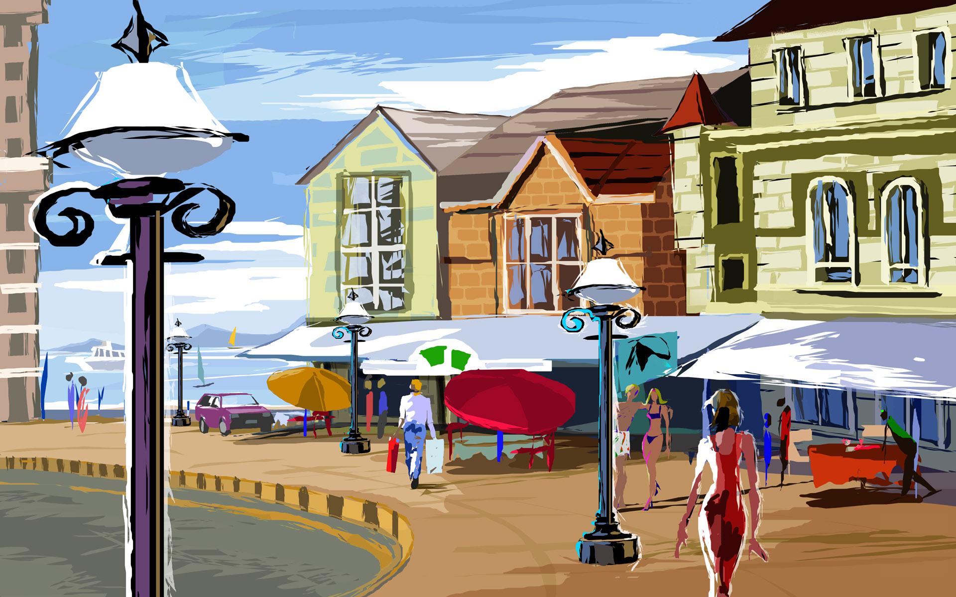 Картинки для детей город дома улицы