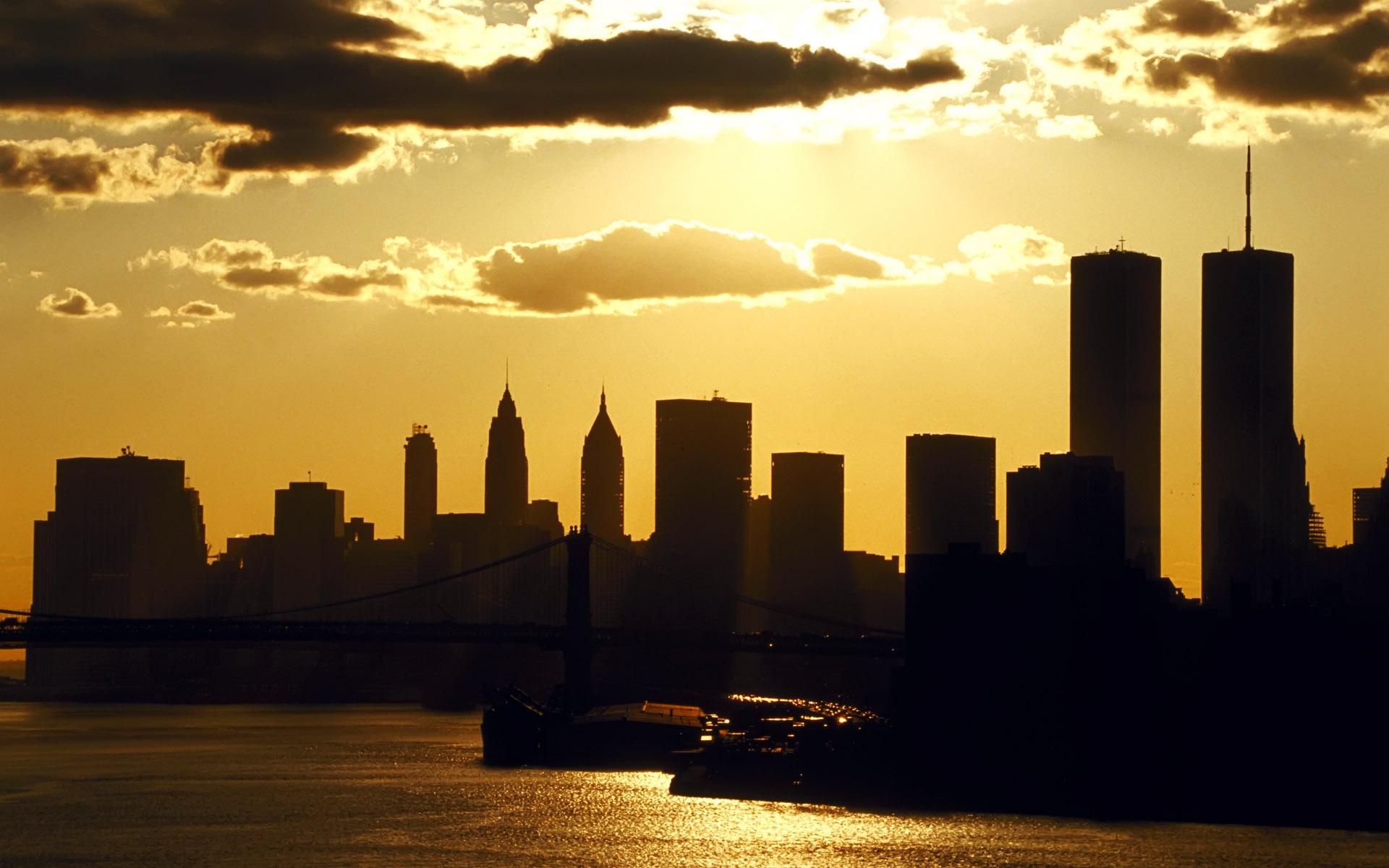 World USA New York  NY Manhattan at sunset   New York   USA 010832