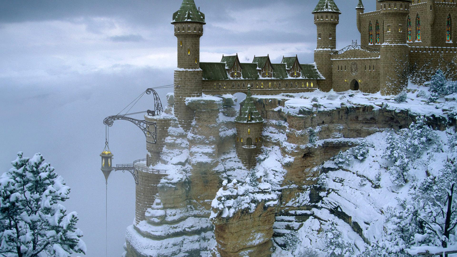 зимние замки обои для рабочего стола № 512106  скачать