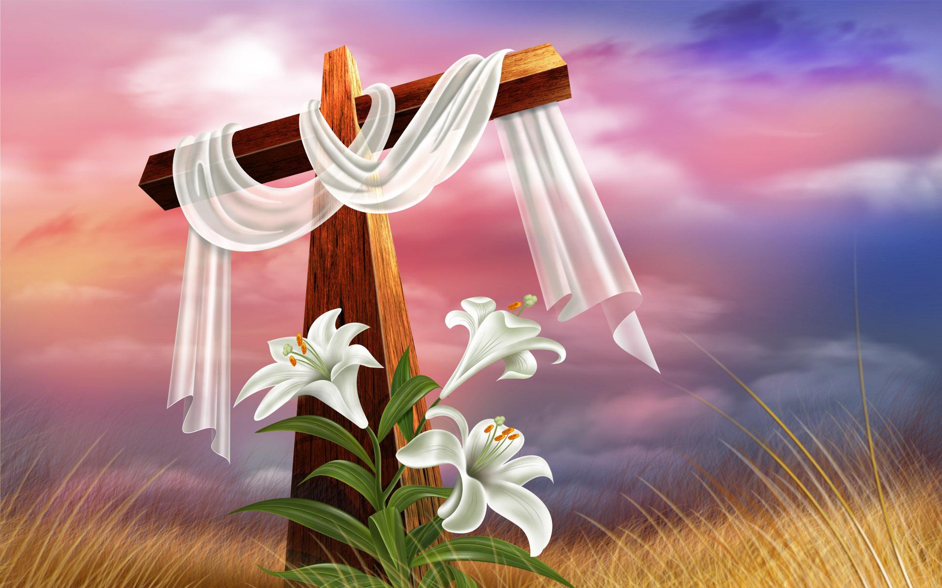 Христианская открытка с праздником пасхи, доброе утро