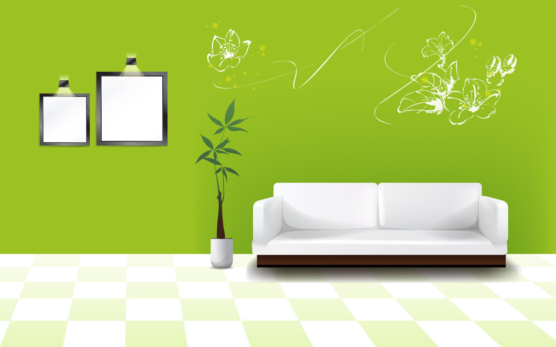 зеленые обои на стену фон имела мозаичное
