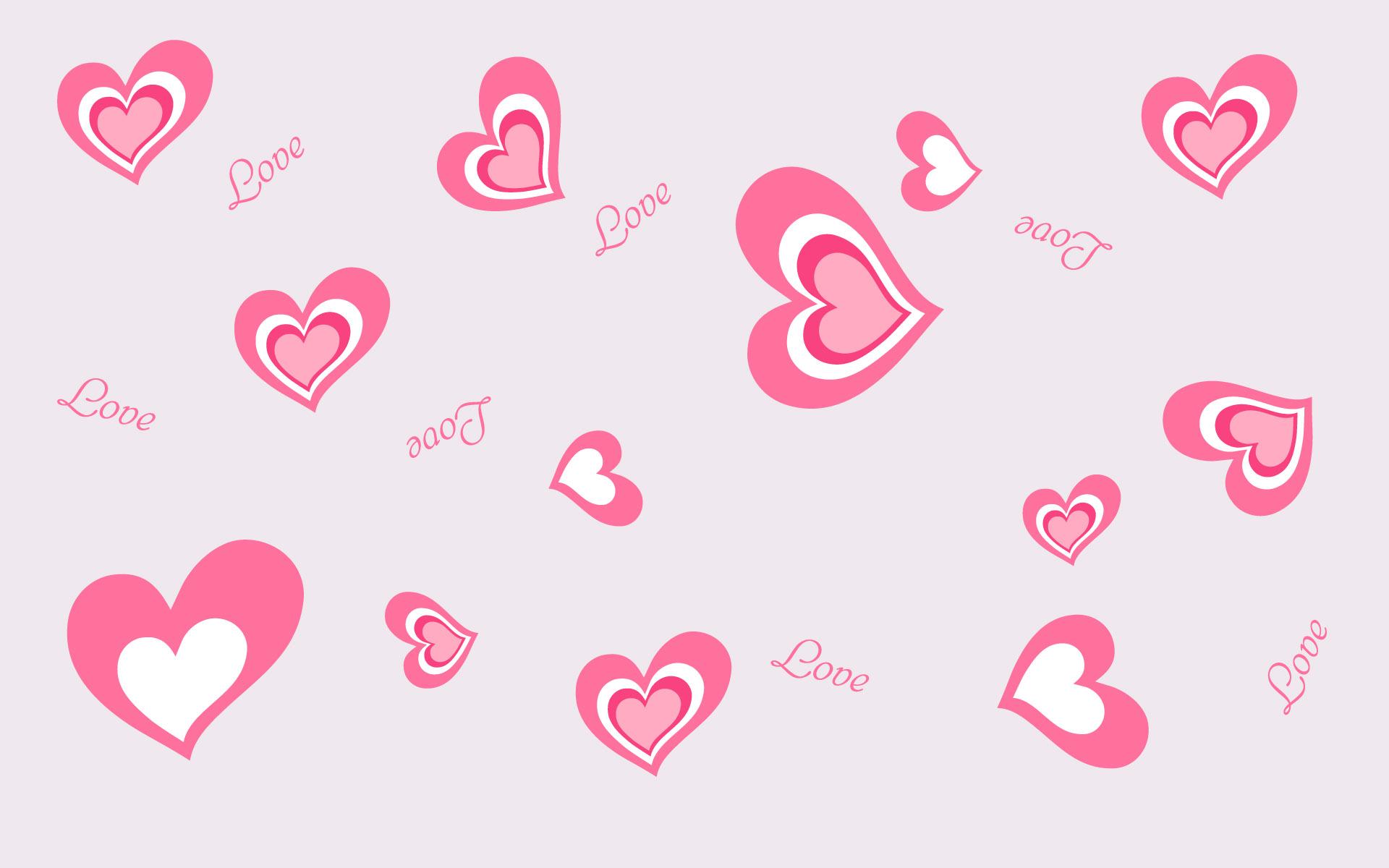 Pattern Love Heart Valentine's Day Holiday Holidays 1920x1200