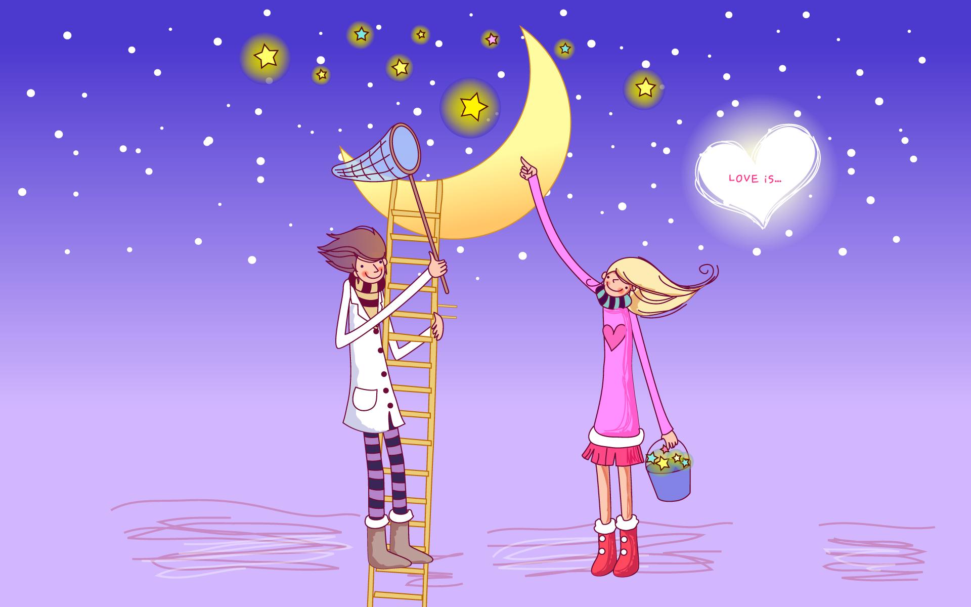 Романтические картинки о любви прикольные веселые
