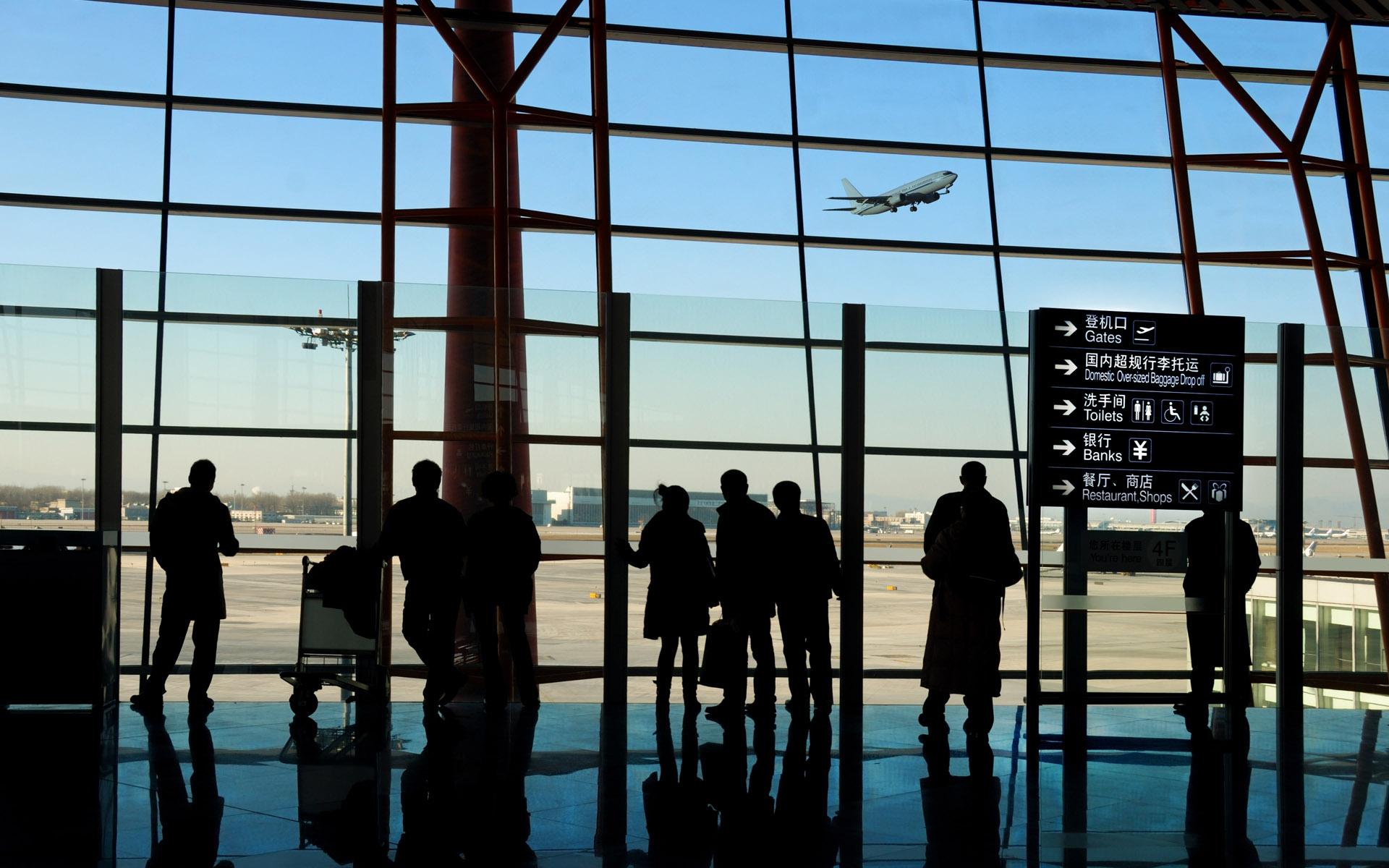 Аэропорт Зал ожидания - обои для рабочего стола, картинки, фото