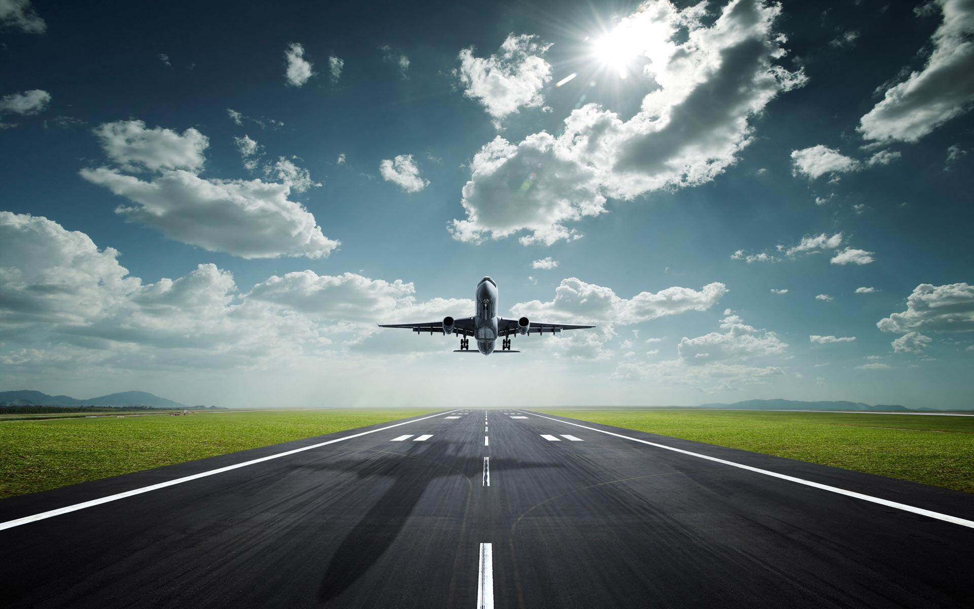 airplane landing wallpaper wallpapers - photo #5