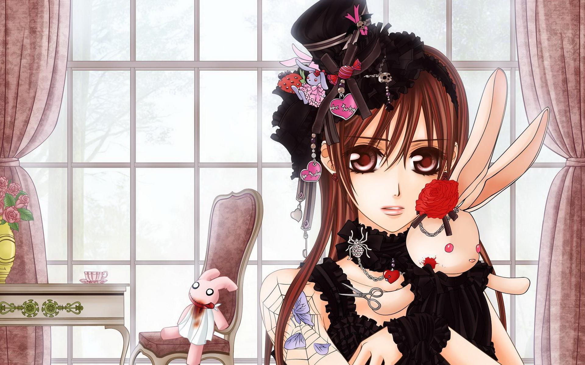 картинки аниме девушек с игрушками: