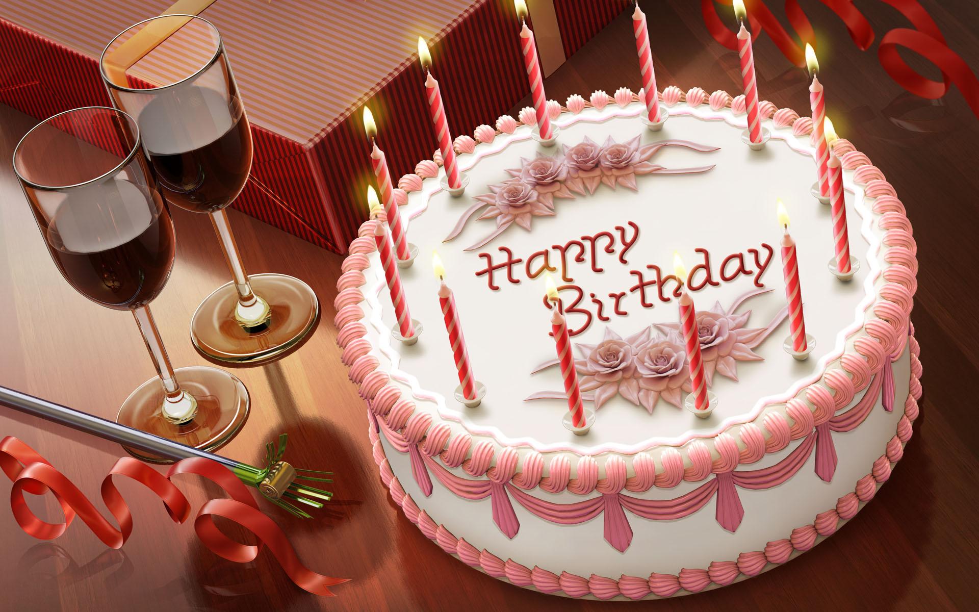 Поздравительная открытка тортик
