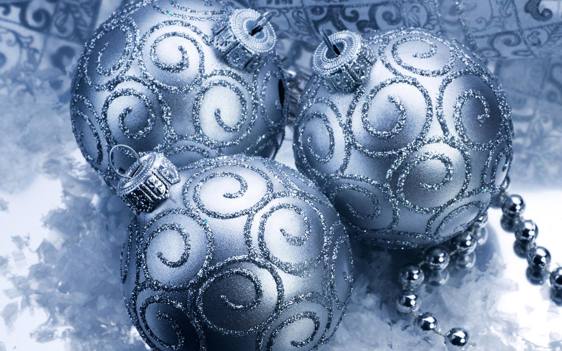 Новогодние картинки шары синие