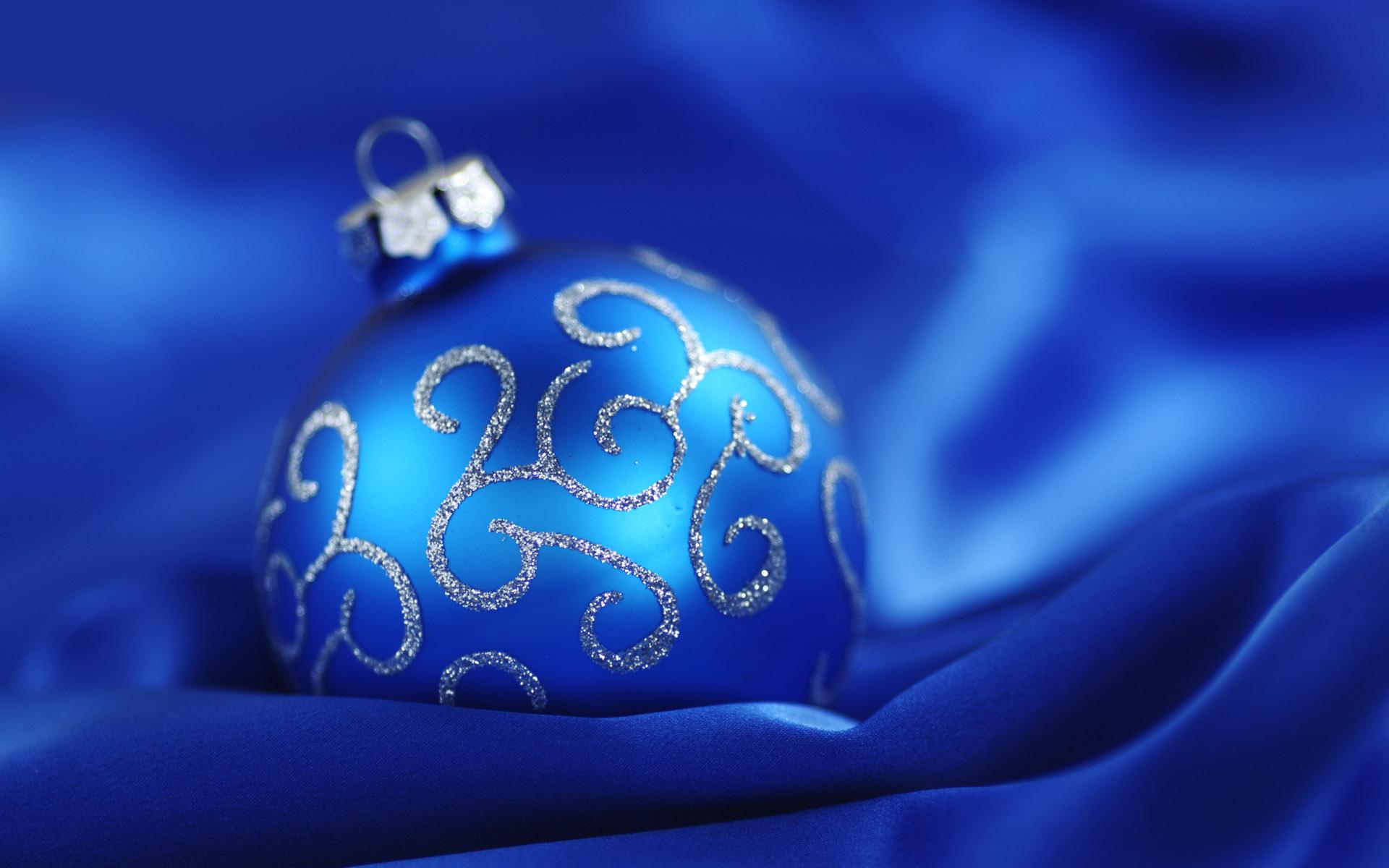 Желаю счастья, новогодние синие открытки