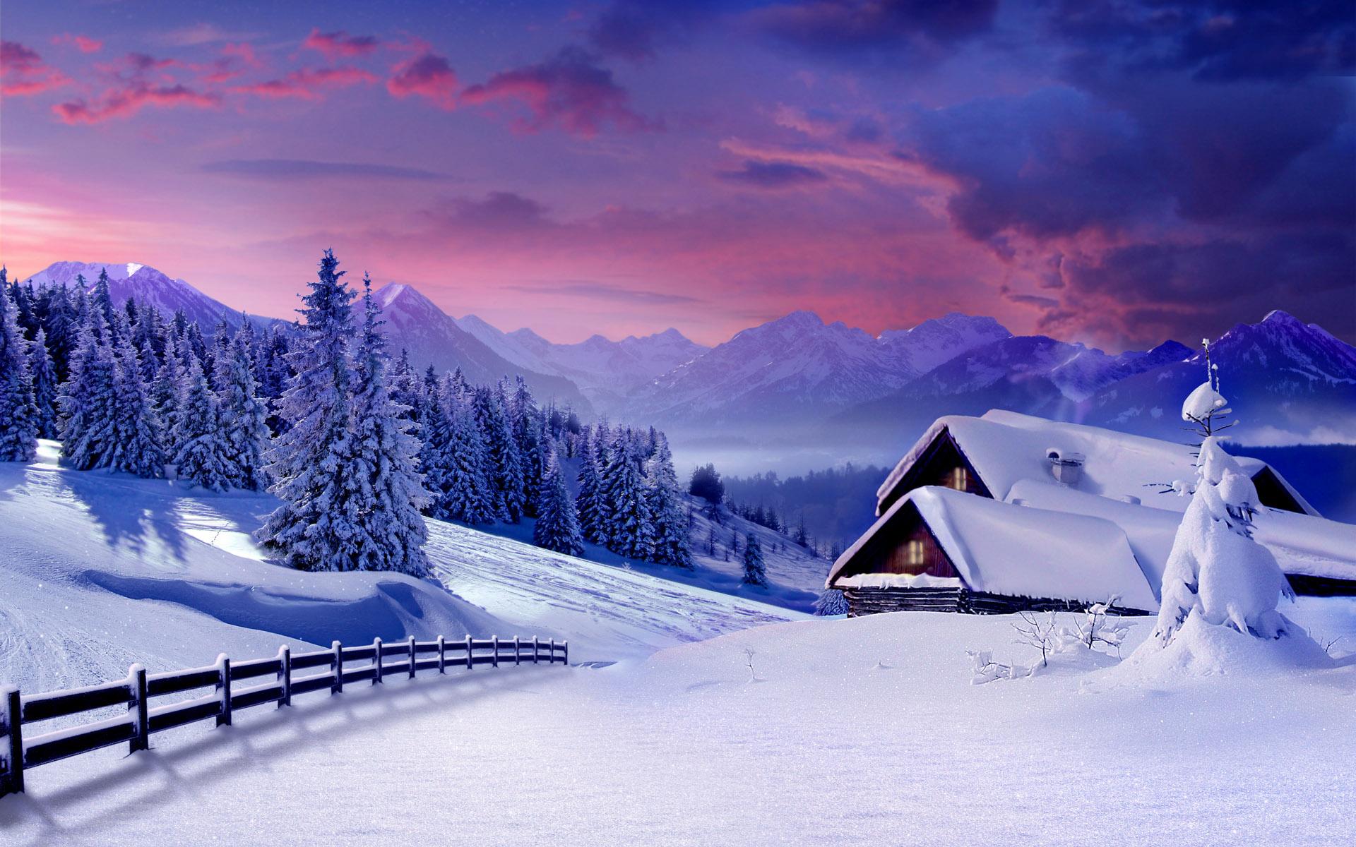 Лет, картинки домик в снегу