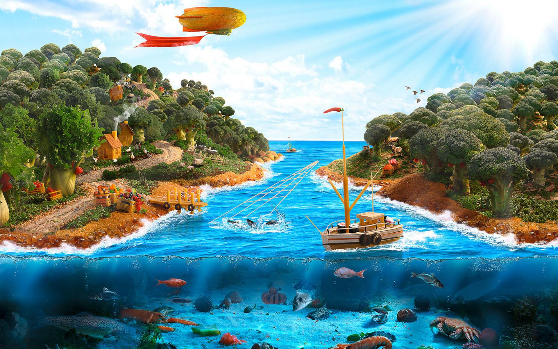 Картинки островов в океане детские, открытки доброго утра