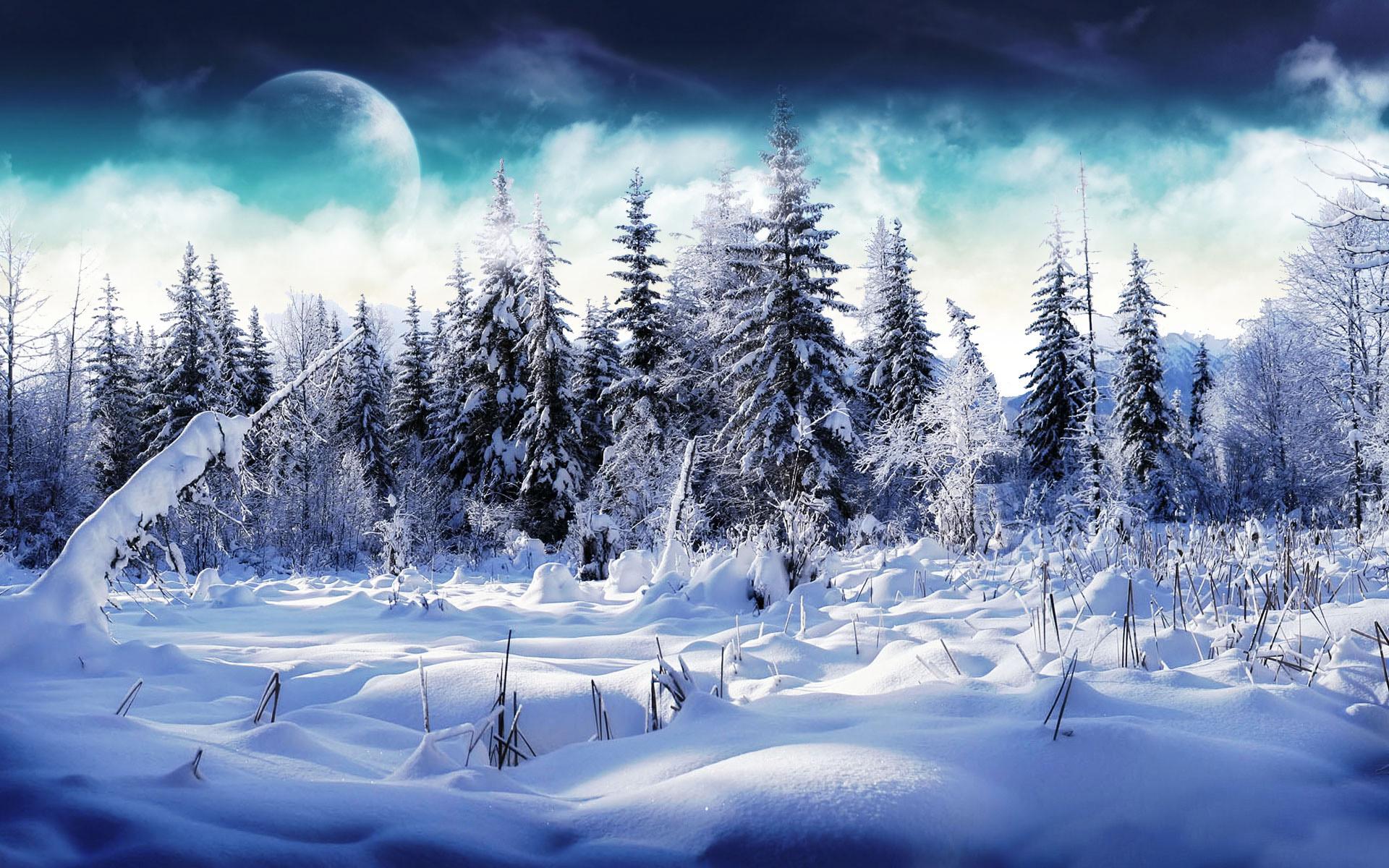 Открытки зимний пейзаж на рабочий стол