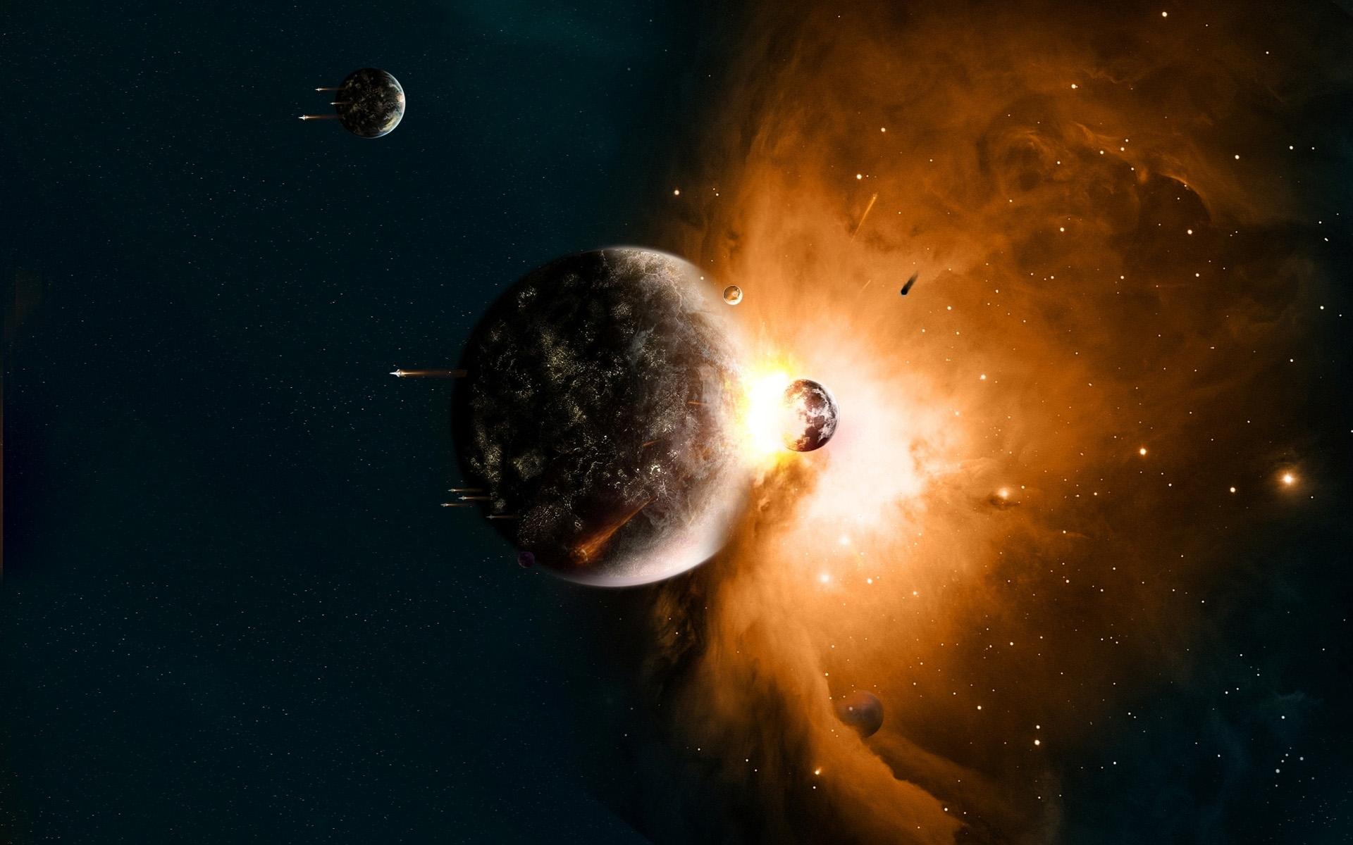 Картинки столкновение планет