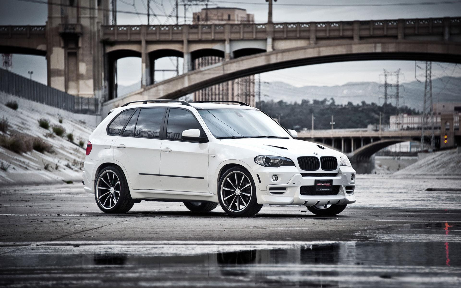 BMW X5 White - обои для рабочего стола, картинки, фото