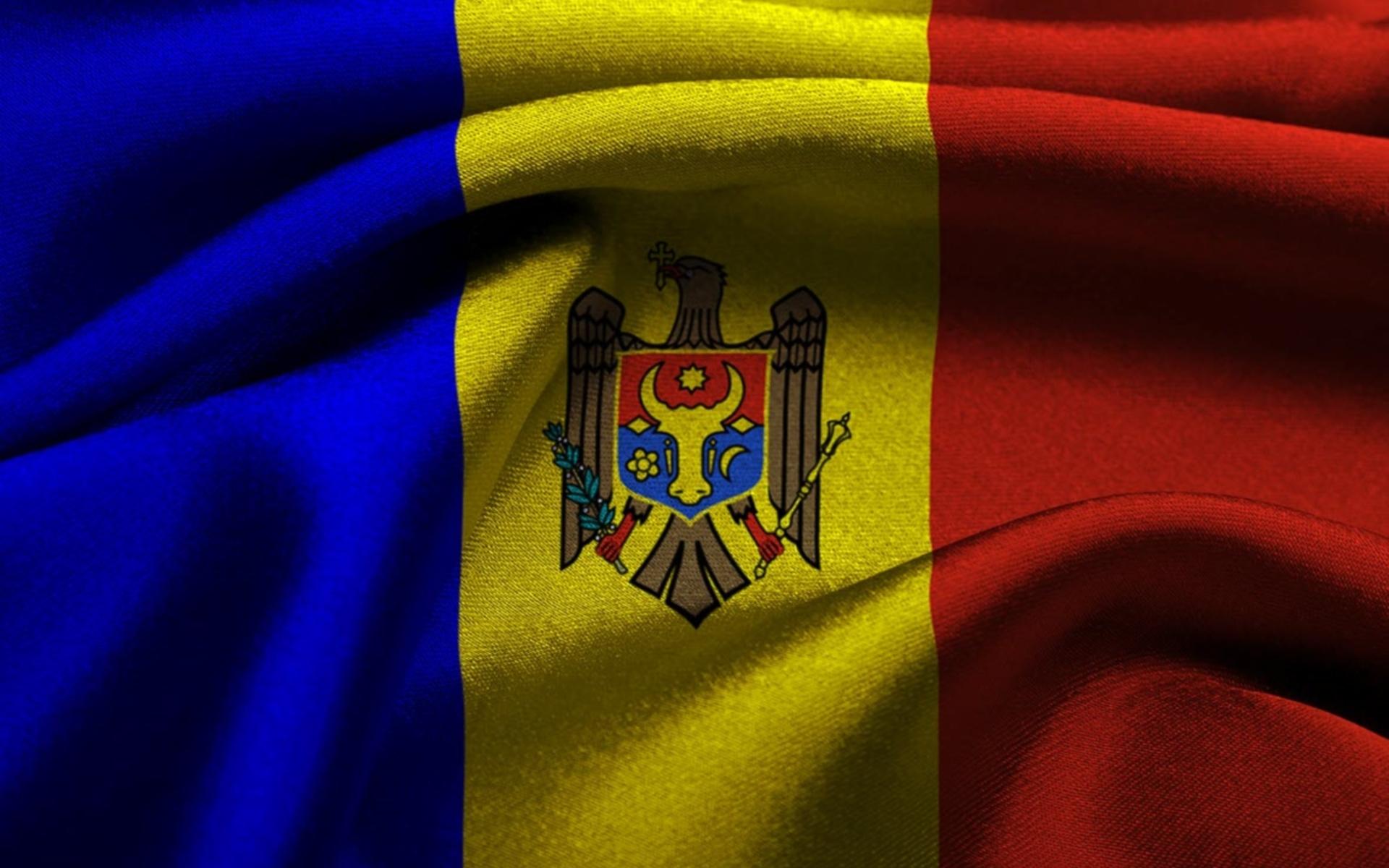 Обои для рабочего стола флаг молдовы