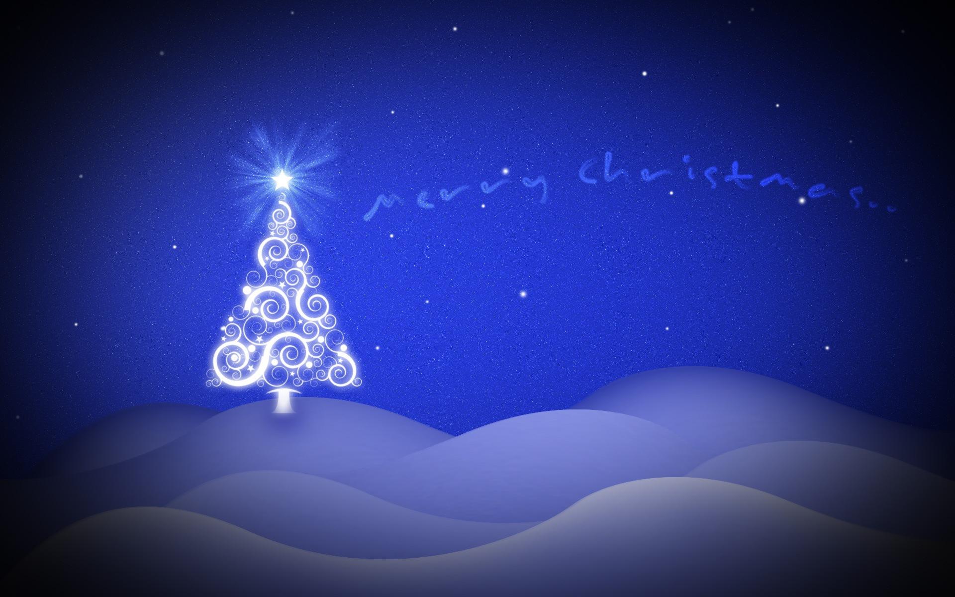 Картинки, новогодняя открытка фотошоп синяя