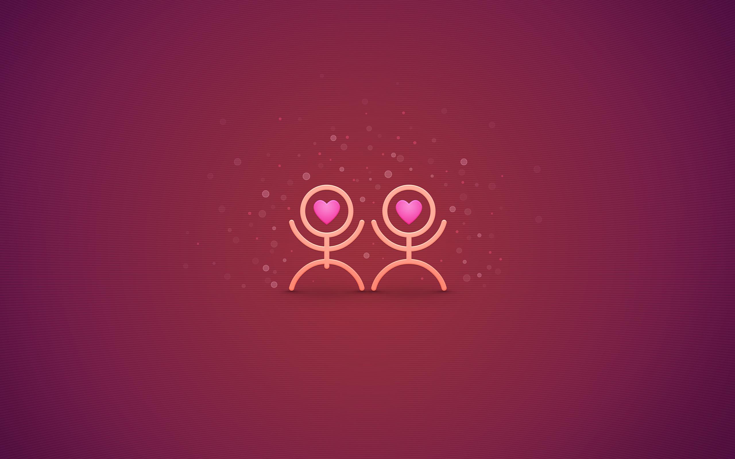 Обои любовь
