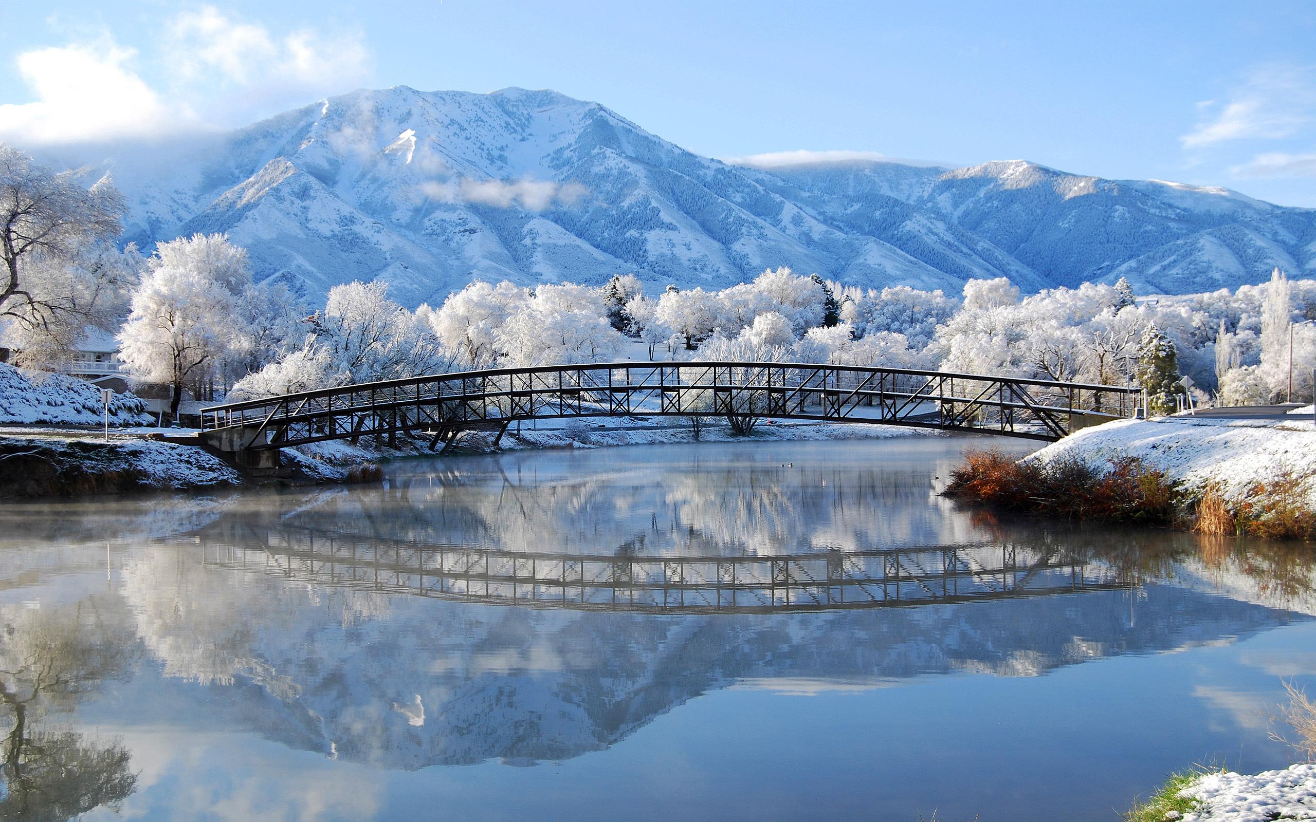 обои для рабочего стола пейзаж зимы № 618358 бесплатно