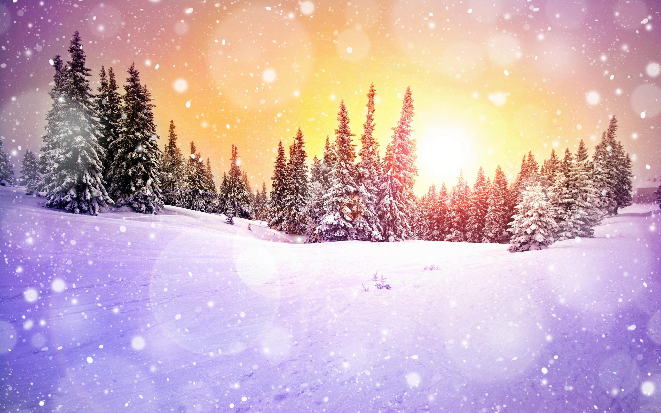 Картинки дети в лесу зимой анимация