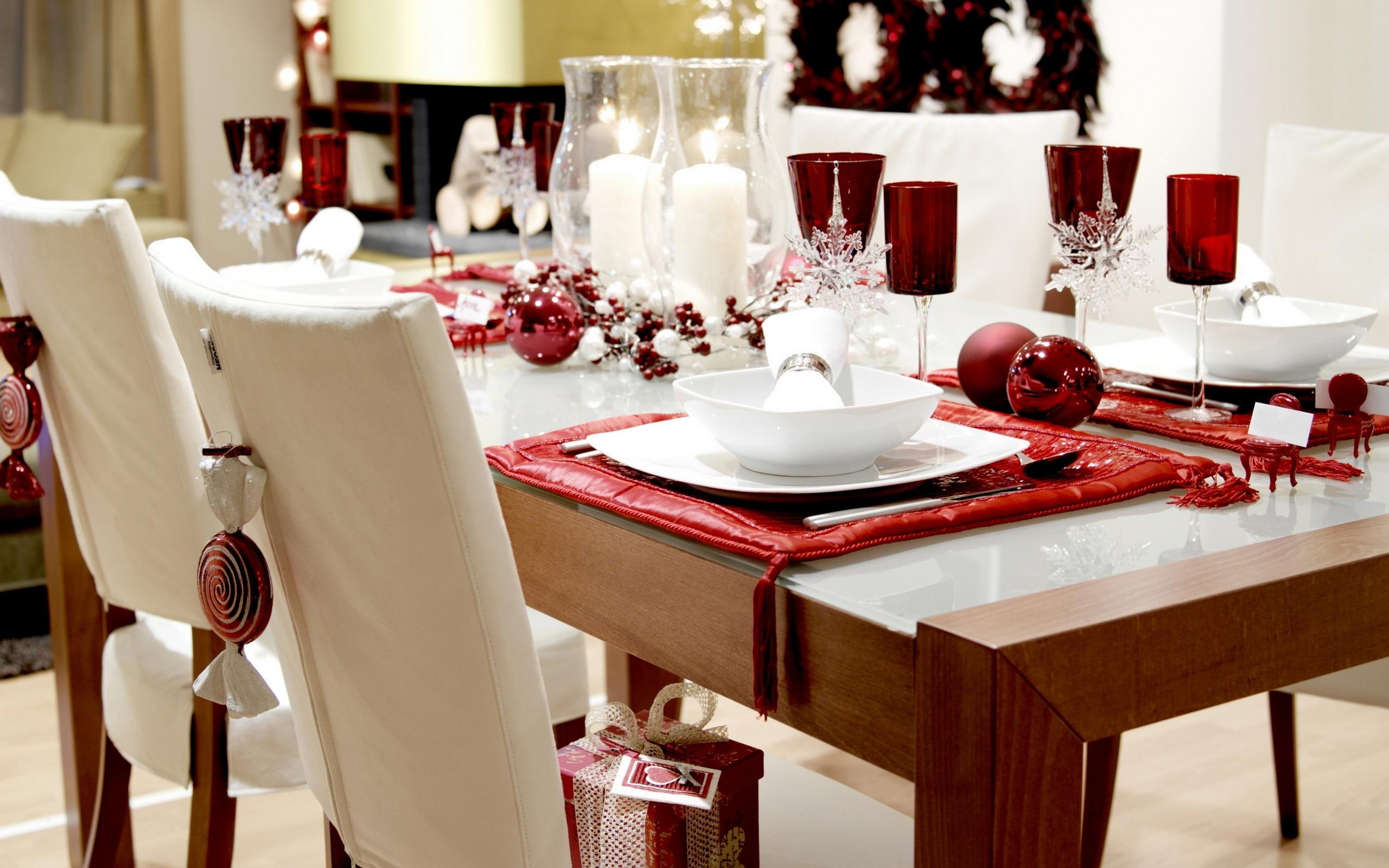 Holiday table wallpapers and images wallpapers pictures - Como decorar una mesa de comedor ...