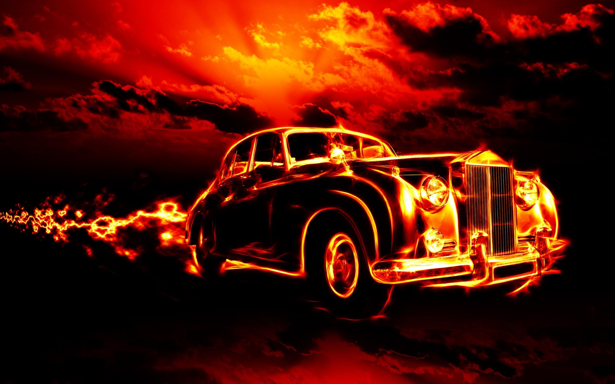 Открытка автомобиль