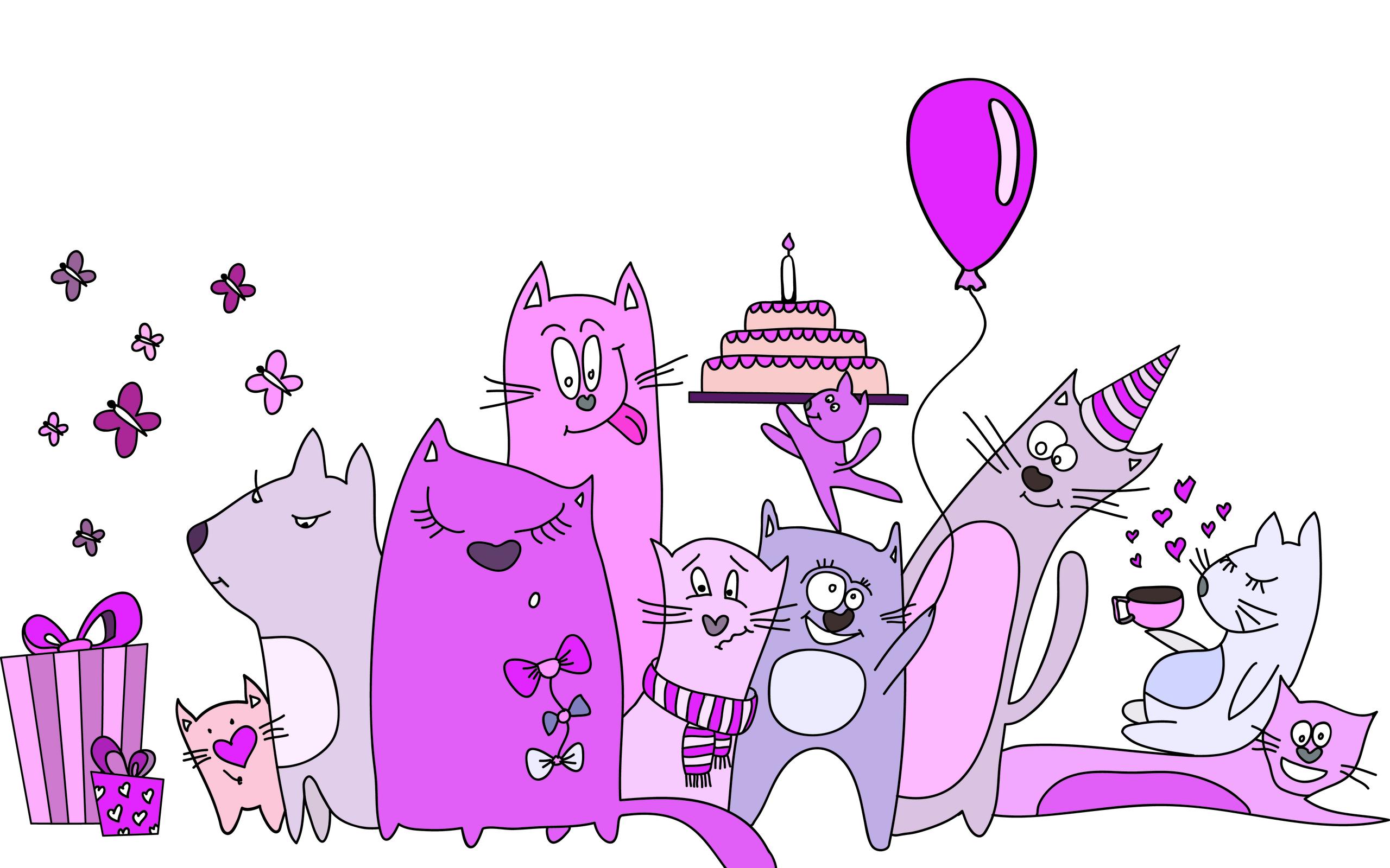 Позитивные открытки с днем рождения девушке