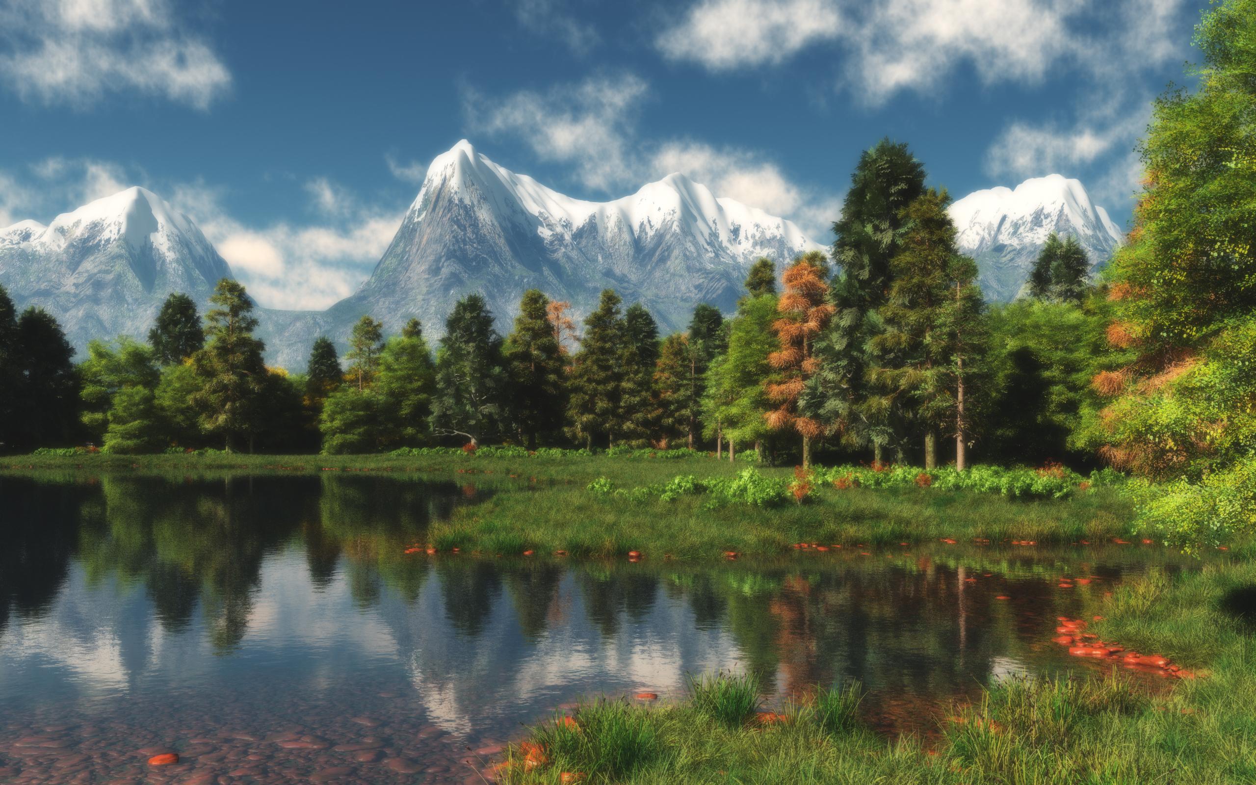 3D graphics Beautiful mountains  3D 058433 19