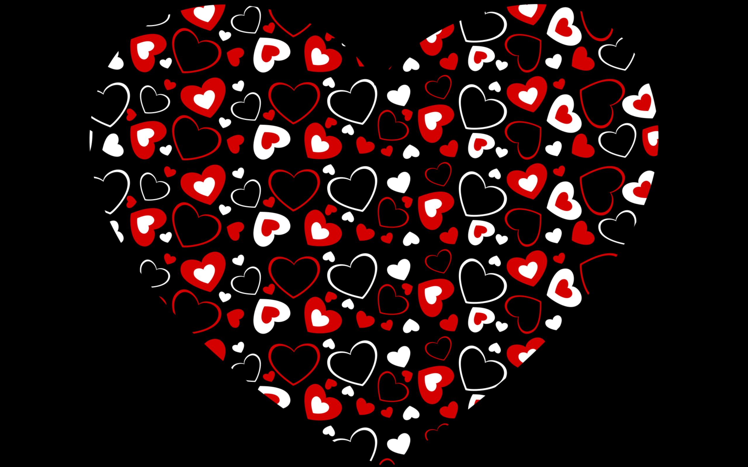 обои сердечко на черном фоне родилась