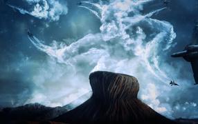 Истребители в небе