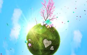 Весна на планете