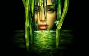 Зеленая девушка