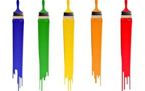 Colorful brush