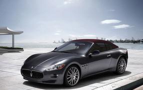 Maserati GranCabrio on quay