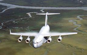 обои Авиация Белый самолет