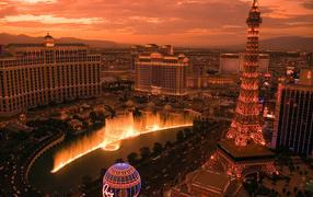 Las Vegas in the evening