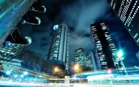 Ночной трафик в Токио