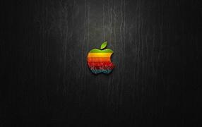 Логотип Apple на коже