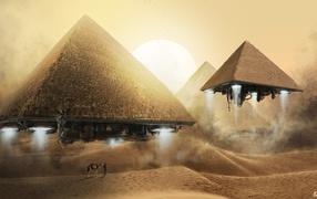 Flying pyramids