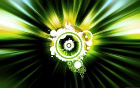 Зеленый векторный мир
