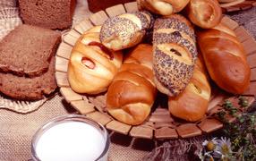 Bread rolls croissants