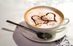 Coffee, hearts