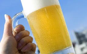 Mug of cold beer
