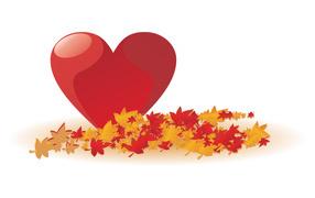 Autumn heart of Valentine's Day