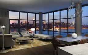 Дизайн комнаты в большом городе