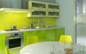 Кухня в стиле Лимон
