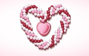 Розовое сердечко