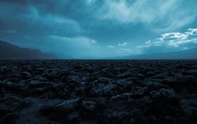 Blue sky over rocks