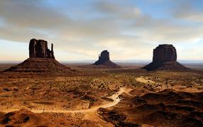 Splendid view of desert